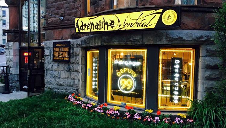 Adrenaline Tattoos & Body Piercing in Montreal